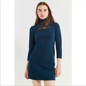 Urban outfitters turtleneck ribbed sweater dress s